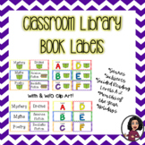 Book Labels for Classroom Library-Multi-Color Chevron