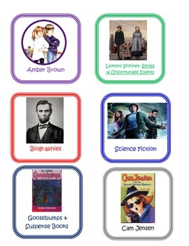 Book Labels for Genre Sorting Tubs