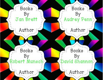 Book Labels for the Classroom Library