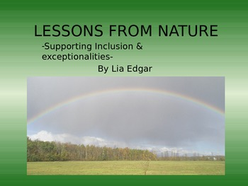Book: Lessons From Nature - Supporting Classroom Inclusion & Exceptionalities
