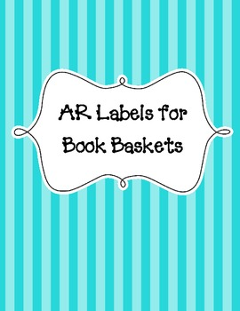 Book Levels for Book Baskets - Black and White for Use with Accelerated Reader