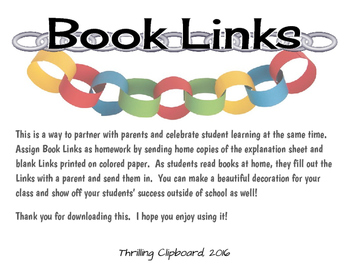 Book Links: Family Reading Homework Fun!