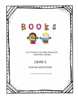 Book List Level J