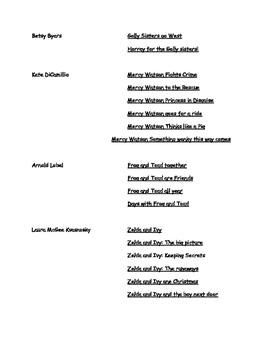 Book List Level K