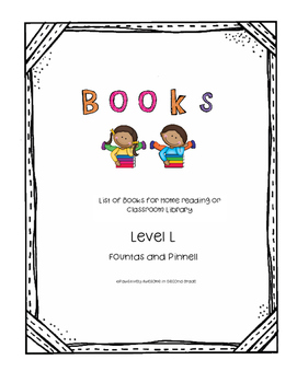 Book List Level L