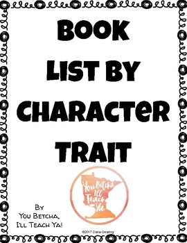 Book List by Character Trait