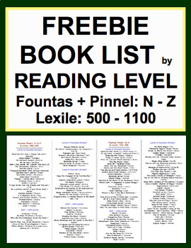 Book List by Reading Level