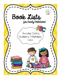 Book Lists for Early Childhood