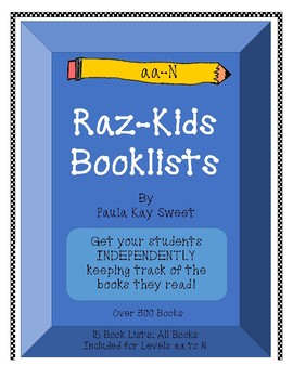 Book Lists for RAZ-Kids  (Includes all books from aa-N)