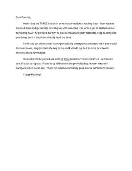 Book Loan Letter