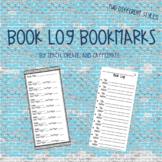 Book Log Bookmarks