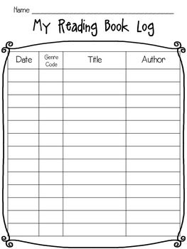 Book Logs (for Reader's Workshop, Small Groups, DEAR, etc)