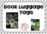 Book Luggage Tags - Gray and White Polka Dots