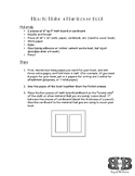 Book Making: Step-by-step Directions