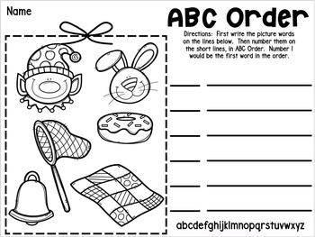 Alphabetical (ABC) Order Writing Station