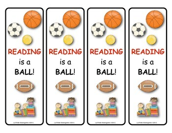 Book Mark (Reading is a Ball)