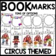 Book Marks Circus Themed (Personalized with student picture and name)