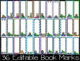 Book Marks- Editable- 36 Editable Book Marks