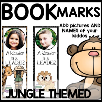 Book Marks JUNGLE Themed (Personalized with student picture and name)