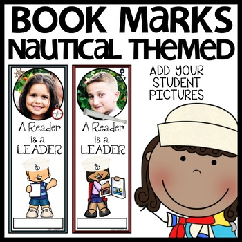 Book Marks Nautical Themed (Personalized with student picture and name)