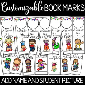 Book Marks (Personalized with student picture and name)
