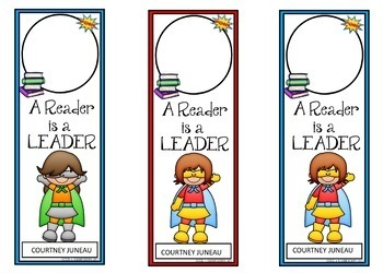 Book Marks SUPERHERO Themed (Personalized with student picture and name)