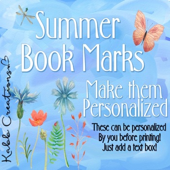 Book Marks for Summer!