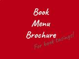 Book Menu Brochure for Book Tasting