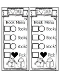 Book Menu Shopping cards