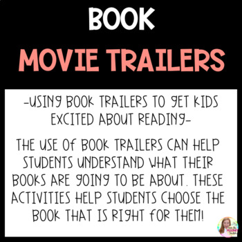 Book Movie Trailers for Independent Reading Projects