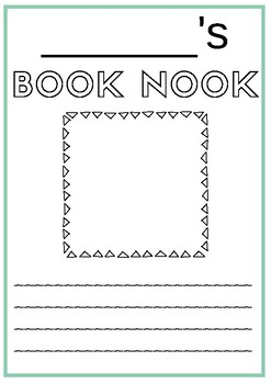 Book Nook Worksheet