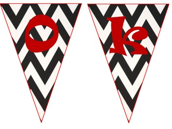 """Book Nook""- chevron title flags"