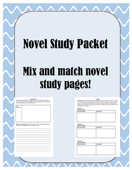 Book / Novel / Literature Circle Study Packet