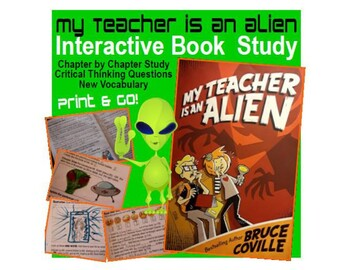My Teacher is an Alien (Bruce Coville) Book Novel Study and Graphic Organizer