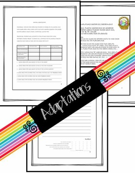 Templates, Rubrics, & Writing Activities for Clouds, Adaptations, Matter