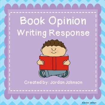 Book Opinion Writing Response