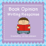 Book Opinion Writing Response