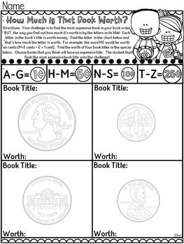 Book Order Activities