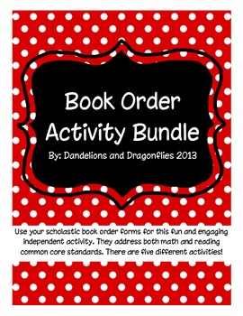 Book Order Activity Bundle
