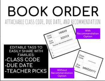 Book Order Attachment