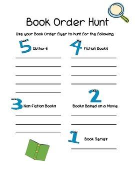Book Order Fun: Language, Media Literacy and Math Activities