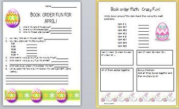 Book Order Fun for April