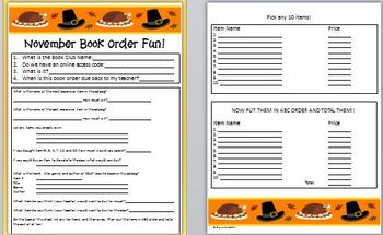 Book Order Fun for November