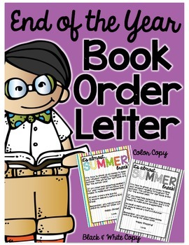 Book Order Letter - End of the Year