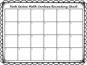 Math Task Cards Using Book Order Forms