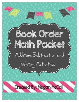 Book Order Math Packet