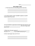 Book Order Math Task