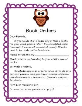 Book Order Notice