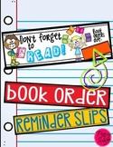 Book Order Reminder Slips