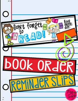 Book Order Reminder Slips